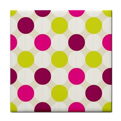 Polka Dots Spots Pattern Seamless Tile Coasters
