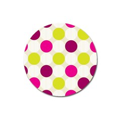 Polka Dots Spots Pattern Seamless Magnet 3  (round)