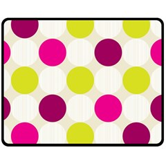 Polka Dots Spots Pattern Seamless Fleece Blanket (medium)