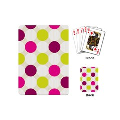 Polka Dots Spots Pattern Seamless Playing Cards (mini)