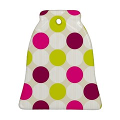 Polka Dots Spots Pattern Seamless Bell Ornament (two Sides)