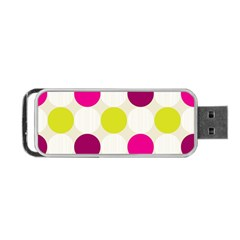 Polka Dots Spots Pattern Seamless Portable Usb Flash (one Side)