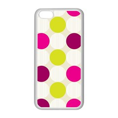 Polka Dots Spots Pattern Seamless Apple Iphone 5c Seamless Case (white)