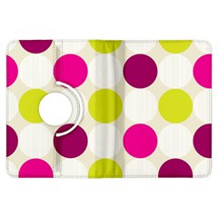 Polka Dots Spots Pattern Seamless Kindle Fire Hdx Flip 360 Case