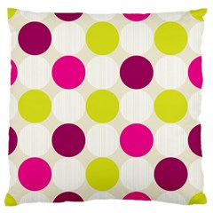 Polka Dots Spots Pattern Seamless Large Flano Cushion Case (two Sides)