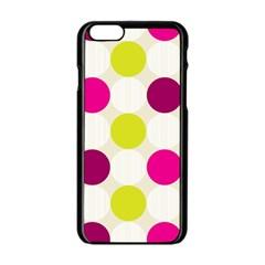 Polka Dots Spots Pattern Seamless Apple Iphone 6/6s Black Enamel Case