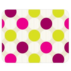 Polka Dots Spots Pattern Seamless Double Sided Flano Blanket (medium)