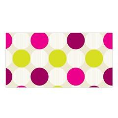 Polka Dots Spots Pattern Seamless Satin Shawl