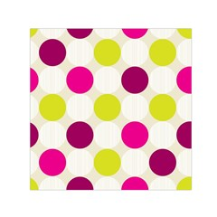 Polka Dots Spots Pattern Seamless Small Satin Scarf (square)