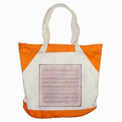 Vintage Pink Music Notes Accent Tote Bag