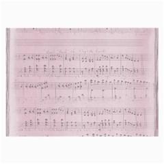 Vintage Pink Music Notes Large Glasses Cloth (2 Side)