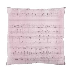 Vintage Pink Music Notes Standard Cushion Case (two Sides)