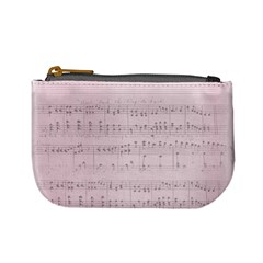 Vintage Pink Music Notes Mini Coin Purses