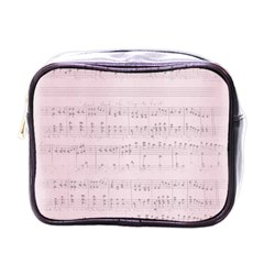 Vintage Pink Music Notes Mini Toiletries Bags