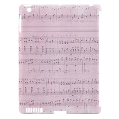 Vintage Pink Music Notes Apple Ipad 3/4 Hardshell Case (compatible With Smart Cover)