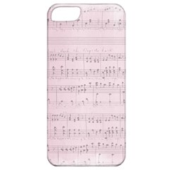 Vintage Pink Music Notes Apple Iphone 5 Classic Hardshell Case