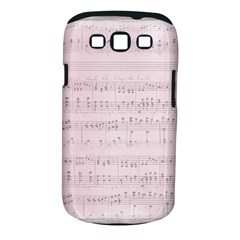Vintage Pink Music Notes Samsung Galaxy S Iii Classic Hardshell Case (pc+silicone)