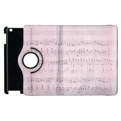 Vintage Pink Music Notes Apple Ipad 2 Flip 360 Case