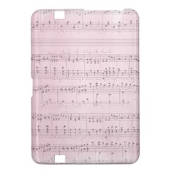 Vintage Pink Music Notes Kindle Fire Hd 8 9