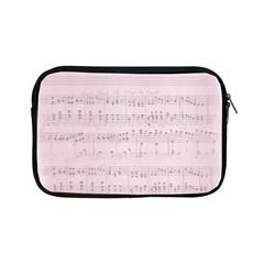 Vintage Pink Music Notes Apple Ipad Mini Zipper Cases