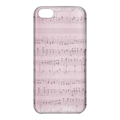 Vintage Pink Music Notes Apple Iphone 5c Hardshell Case