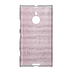 Vintage Pink Music Notes Nokia Lumia 1520