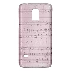 Vintage Pink Music Notes Galaxy S5 Mini