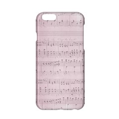 Vintage Pink Music Notes Apple Iphone 6/6s Hardshell Case