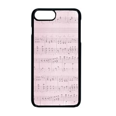 Vintage Pink Music Notes Apple Iphone 8 Plus Seamless Case (black)