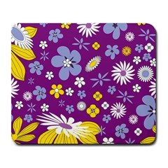 Floral Flowers Wallpaper Paper Large Mousepads