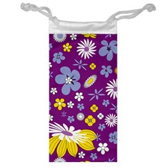 Floral Flowers Wallpaper Paper Jewelry Bag