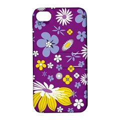 Floral Flowers Wallpaper Paper Apple Iphone 4/4s Hardshell Case With Stand