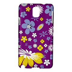 Floral Flowers Wallpaper Paper Samsung Galaxy Note 3 N9005 Hardshell Case