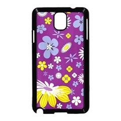 Floral Flowers Wallpaper Paper Samsung Galaxy Note 3 Neo Hardshell Case (black)
