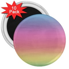 Background Watercolour Design Paint 3  Magnets (10 Pack)