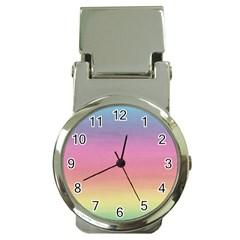 Background Watercolour Design Paint Money Clip Watches