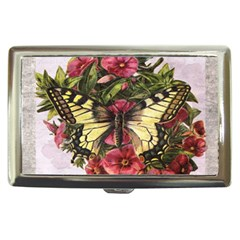 Vintage Butterfly Flower Cigarette Money Cases