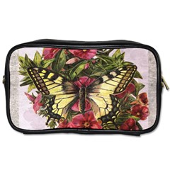 Vintage Butterfly Flower Toiletries Bags