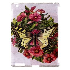 Vintage Butterfly Flower Apple Ipad 3/4 Hardshell Case (compatible With Smart Cover)