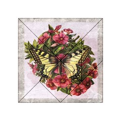 Vintage Butterfly Flower Acrylic Tangram Puzzle (4  X 4 )