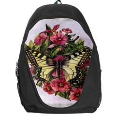 Vintage Butterfly Flower Backpack Bag