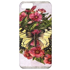 Vintage Butterfly Flower Apple Iphone 5 Classic Hardshell Case