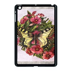 Vintage Butterfly Flower Apple Ipad Mini Case (black)