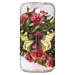 Vintage Butterfly Flower Samsung Galaxy S3 S Iii Classic Hardshell Back Case