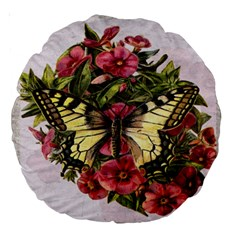 Vintage Butterfly Flower Large 18  Premium Round Cushions