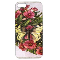 Vintage Butterfly Flower Apple Iphone 5 Hardshell Case With Stand