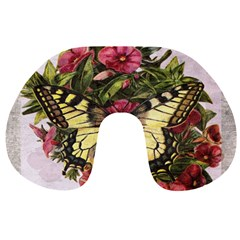 Vintage Butterfly Flower Travel Neck Pillows