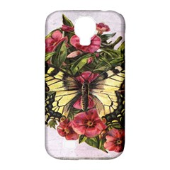 Vintage Butterfly Flower Samsung Galaxy S4 Classic Hardshell Case (pc+silicone)