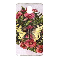 Vintage Butterfly Flower Samsung Galaxy Note 3 N9005 Hardshell Back Case
