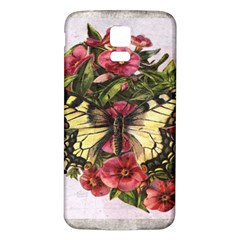 Vintage Butterfly Flower Samsung Galaxy S5 Back Case (white)
